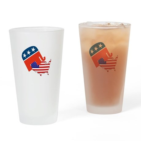 Screwing America Drinking Glass