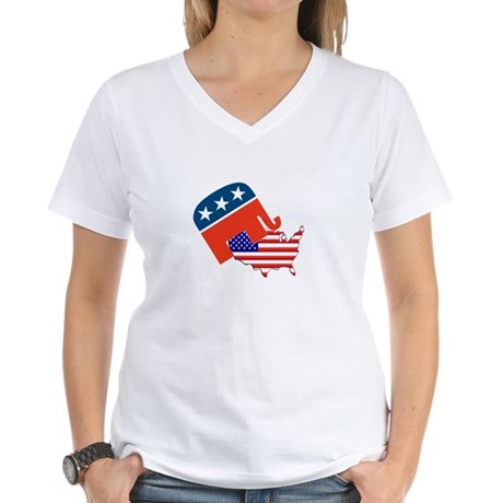 Screwing America Women's V-Neck T-Shirt
