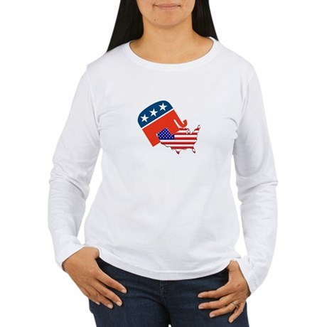 Screwing America Women's Long Sleeve T-Shirt