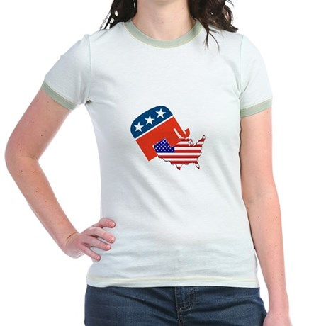 Screwing America Jr. Ringer T-Shirt