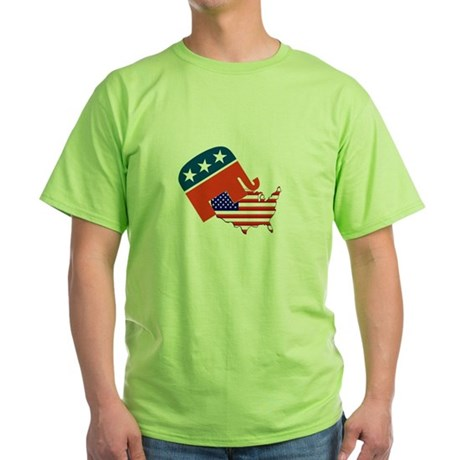Screwing America Green T-Shirt