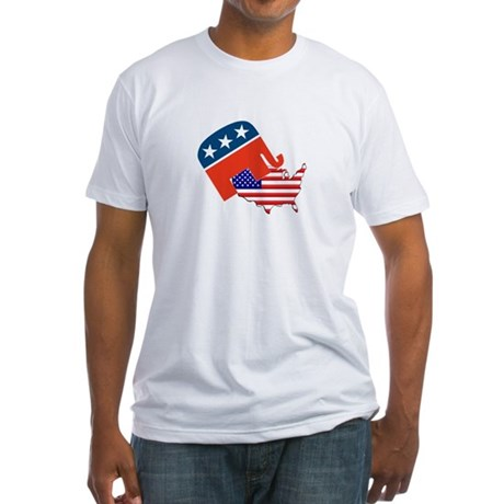Screwing America Fitted T-Shirt