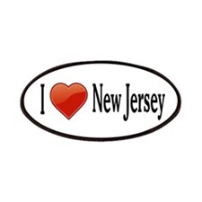 I Love New Jersey Patches