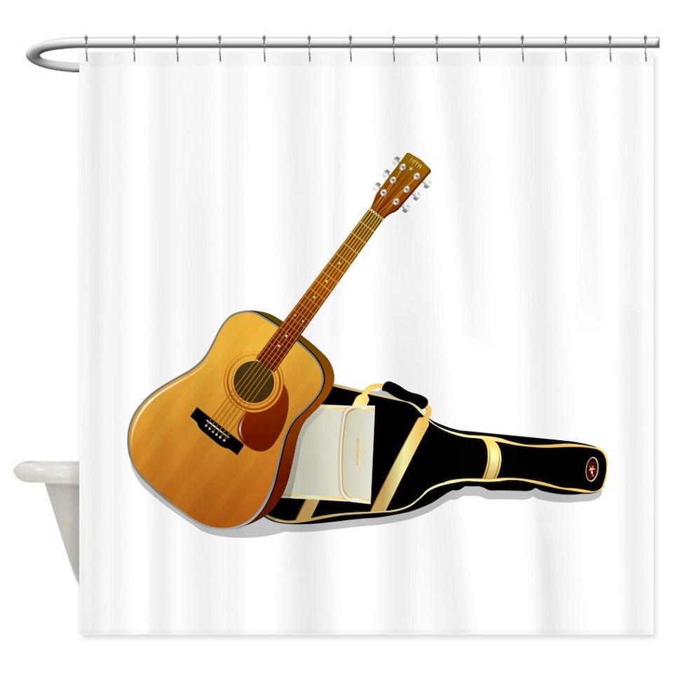 Rock N Roll Shower Curtains Custom Themed Bath