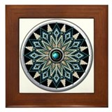 Native American Rosette 04 Framed Tile
