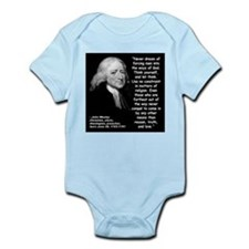 Wesley Religion Quote 2 Infant Bodysuit
