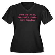 Don't look at me Women's Plus Size V-Neck Dark T-S