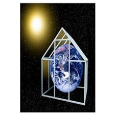Greenhouse effect, conceptual artwork