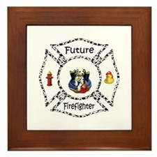 Future Firefighter Dalmatian Framed Tile