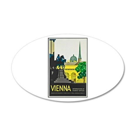 Vienna Travel Poster 1 20x12 Oval Wall Decal