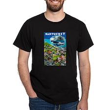 Massachusetts Travel Poster 1 T-Shirt