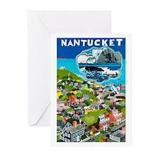Massachusetts Travel Poster 1 Greeting Cards (Pk o