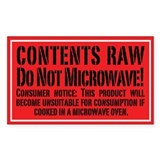 Do Not Microwave! 3x5  Aufkleber