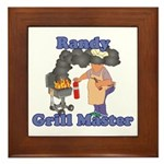 Grill Master Randy Framed Tile