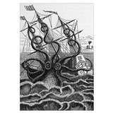 Octopus attacking a ship