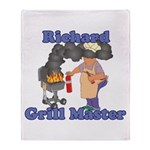 Grill Master Richard Throw Blanket