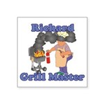 Grill Master Richard Square Sticker 3