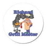 Grill Master Richard Round Car Magnet