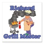 Grill Master Richard Square Car Magnet 3
