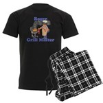 Grill Master Roger Men's Dark Pajamas