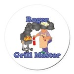 Grill Master Roger Round Car Magnet