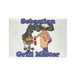 Grill Master Sebastian Rectangle Magnet