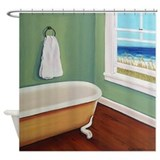 Window to the Sea Beach Shower Curtain