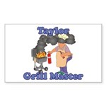 Grill Master Taylor Sticker (Rectangle)