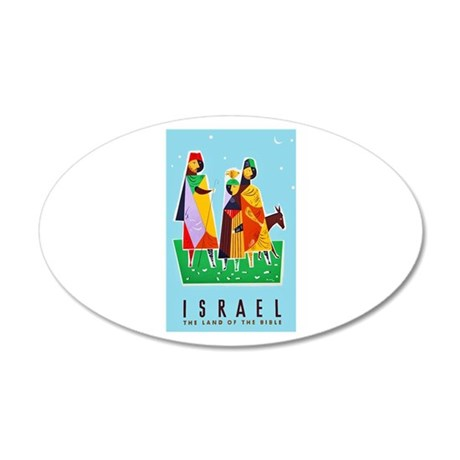 Israel Travel Poster 2 20x12 Oval Wall Decal