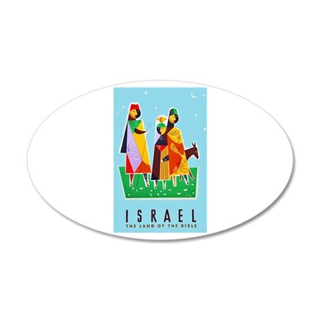 Israel Travel Poster 2 35x21 Oval Wall Decal