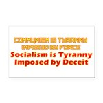 Communism and Socialism Rectangle Car Magnet
