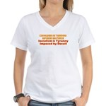 Communism and Socialism Women's V-Neck T-Shirt