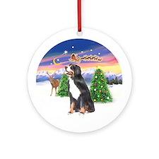Bernese Mountain Dog Xmas Tree Ornament (Round)