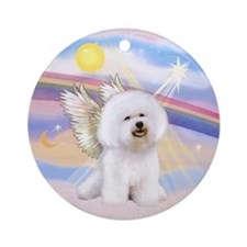 Bichon Frise Angel Ornament (Round)