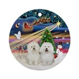 Xmas Magic-Two Bolognese Ornament (Round)