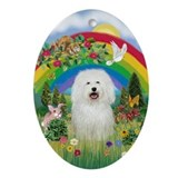 Bolognese Rainbow Keepsake (Oval)