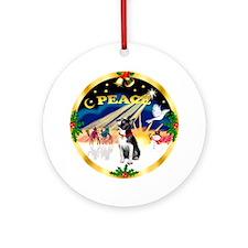 XmasSunrise / Boston Terrier Ornament (Round)