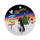 Xmas Signs - Boston Terrier Ornament (Round)