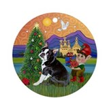 Boston Terrier Xmas Fantasy Keepsake (Round)