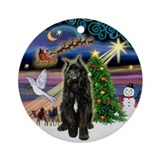Xmas Magic &amp; Bouvier Ornament (Round)
