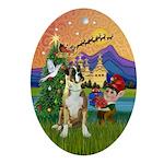 Xmas Fantasy & Boxer (Nat.) Oval Ornament