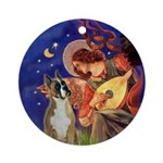 Mandolin Angel & Boxer Ornament (Round)
