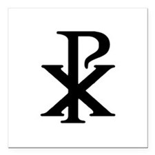 """Chi Rho"" Square Car Magnet 3"" x 3"""