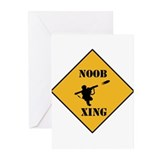Noob Tube Xing Greeting Cards (Pk of 10)