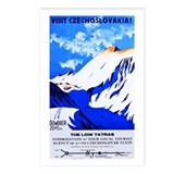 Czechoslovakia Travel Poster 2 Postcards (Package