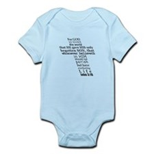 John 3:16 KJV Dark Gray Print Infant Bodysuit