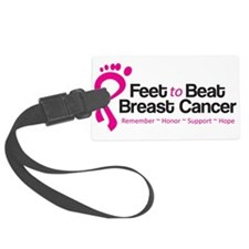 Feet to Beat Breast Cancer Luggage Tag
