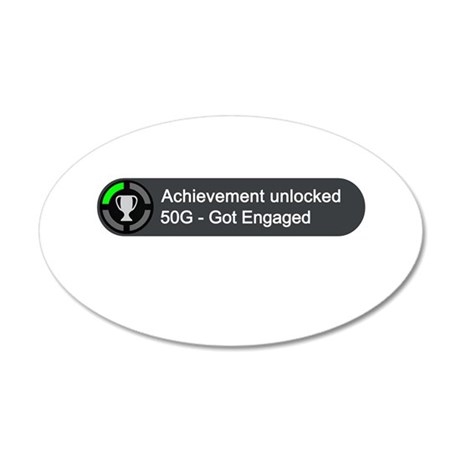 Got Engaged (Achievement) 35x21 Oval Wall Decal