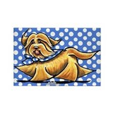 Havanese Blue Polka Rectangle Magnet (10 pack)