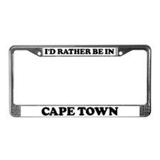 Rather be in Cape Town License Plate Frame